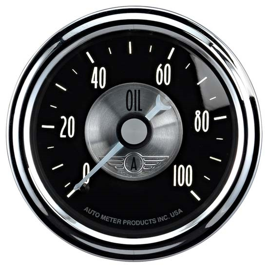Auto Meter 2022 Prestige Black Diamond Mechanical Oil Pressure Gauge