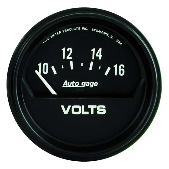 Auto Meter 2319 Auto Gage Air-Core Voltmeter Gauge, 2-5/8 Inch