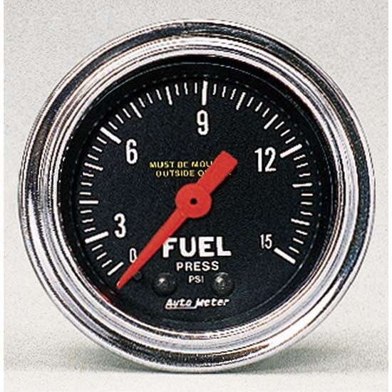 Auto Meter 2411 Traditional Chrome Mechanical Fuel Pressure Gauge