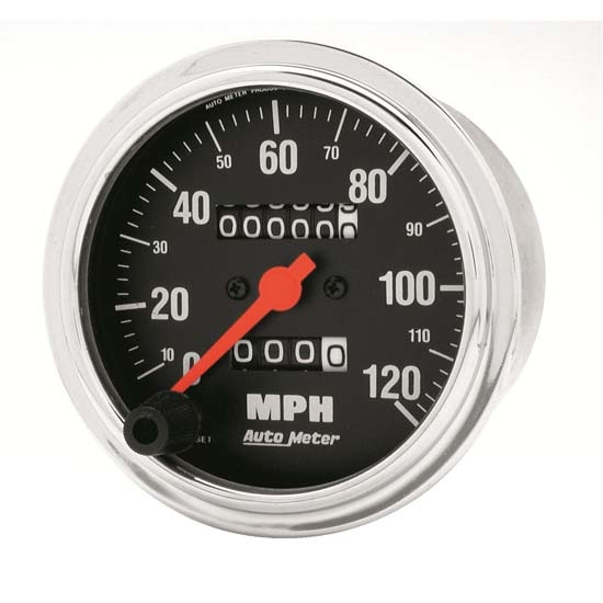 Auto Meter 2492 Traditional Chrome Mech Speedometer, 120 MPH, 3-3/8