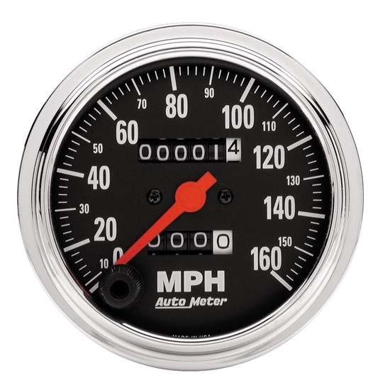 Auto Meter 2494 Traditional Chrome Mech Speedometer, 160 MPH, 3-3/8