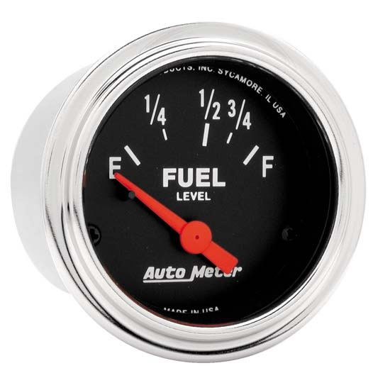 Auto Meter 2515 Traditional Chrome Air-Core Fuel Level Gauge, 2-1/16