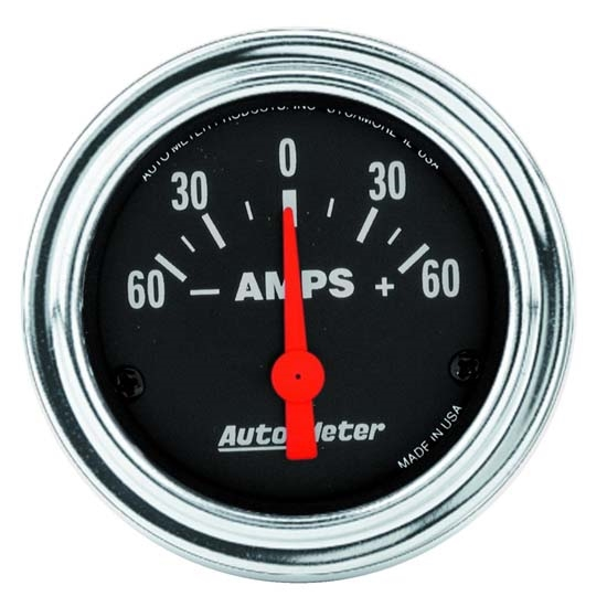 Auto Meter 2586 Traditional Chrome Air-Core Ammeter Gauge, 2-1/16 Inch