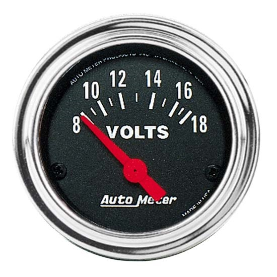Auto Meter 2592 Traditional Chrome Air-Core Voltmeter Gauge