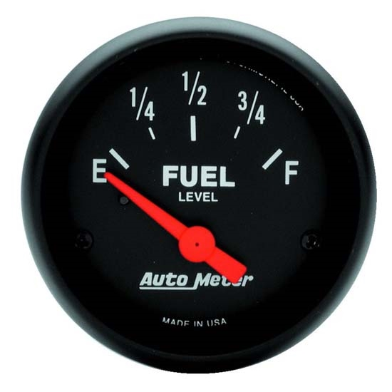 Auto Meter 2648 Z-Series Air-Core Fuel Level Gauge, 2-1/16 Inch, 0-30 Ohms