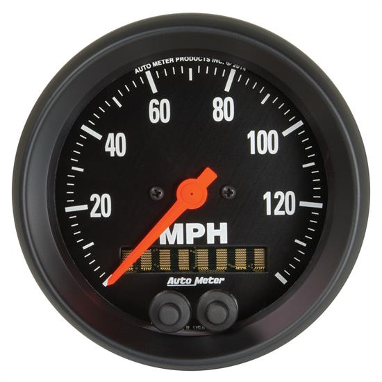 Auto Meter 2680 Z-Series Speedometer, 3-3/8, 0-140 MPH, Flat Lens