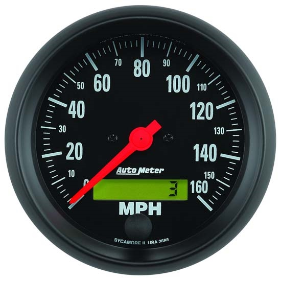 Auto Meter 2688 Z-Series Air-Core Speedometer, 160 MPH, 3-3/8 Inch