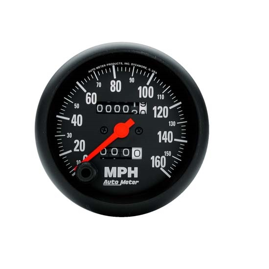 Auto Meter 2694 Z-Series Mechanical Speedometer, 160 MPH, 3-3/8 Inch