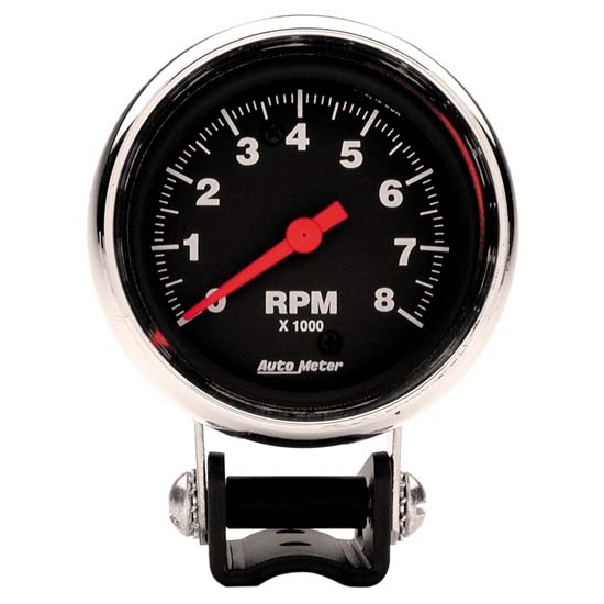 Auto Meter 2893 Traditional Chrome Air-Core Pedestal Tach, 8k, 2-5/8
