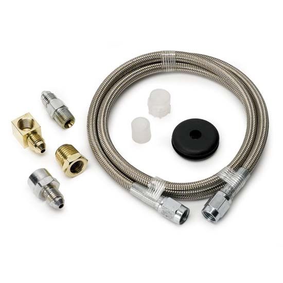Auto Meter 3234 Stainless Line Kit for Pressure Gauges, -3 AN, 3 FT