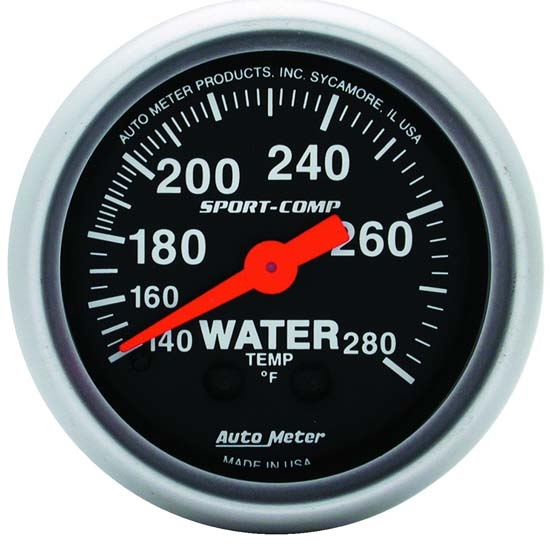 Auto Meter 3331 Sport-Comp Mechanical Water Temperature Gauge
