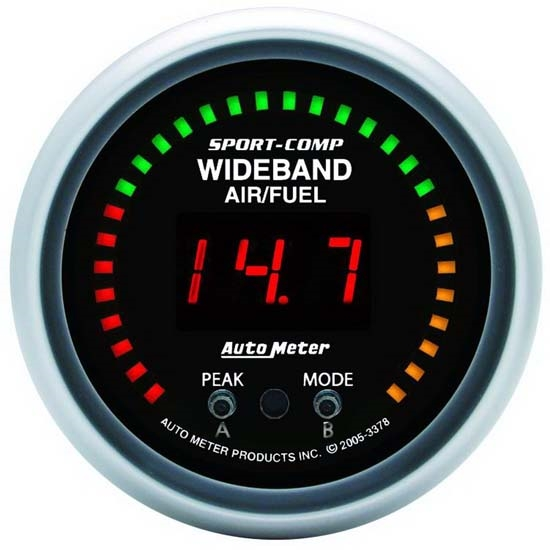 Auto Meter 3378 Sport-Comp Digital Wideband Air/Fuel Ratio (AFR) Gauge