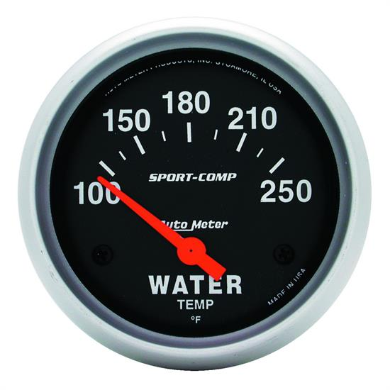 Auto Meter 3531 Sport-Comp Air-Core Water Temperature Gauge