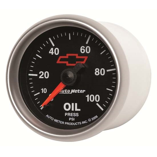 Auto Meter 3621-00406 GM Black Mechanical Oil Pressure Gauge