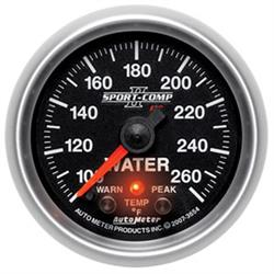 Auto Meter 3654 Sport-Comp II Digital Stepper Motor Water Temp Gauge