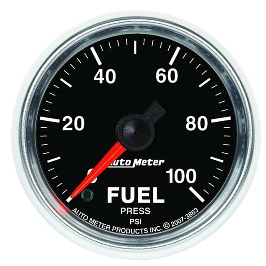 Auto Meter 3863 GS Digital Stepper Motor Fuel Pressure Gauge