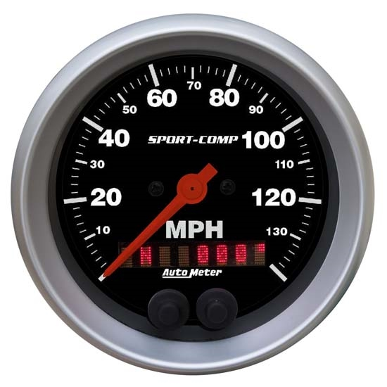 Auto Meter 3982 Sport-Comp Air-Core GPS Speedometer, 140 MPH, 3-3/8
