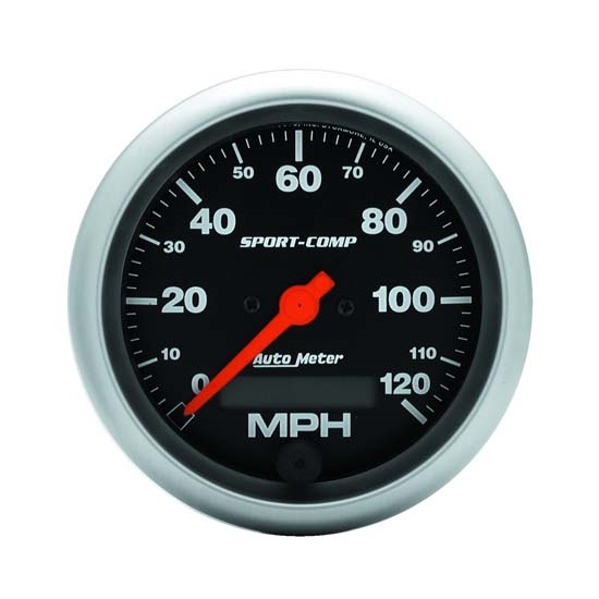 Auto Meter 3987 Sport-Comp Air-Core Speedometer, 120 MPH, 3-3/8 Inch