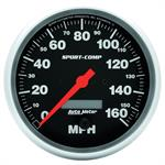 Auto Meter 3989 Sport-Comp Air-Core Speedometer, 160 MPH, 5 Inch