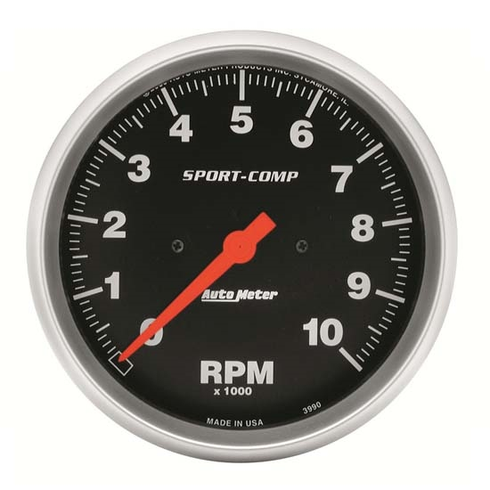 Auto Meter 3990 Sport-Comp Air-Core In-Dash Tach, 10k RPM, 5 Inch