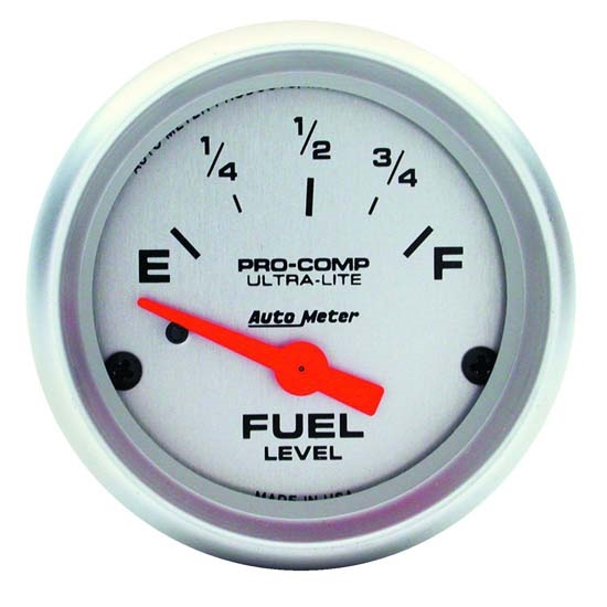 Auto Meter 4319 Ultra-Lite Air-Core Fuel Level Gauge, 2-1/16 Inch