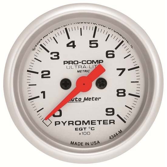 Auto Meter 4344-M Ultra-Lite Digital Stepper Motor Pyrometer Gauge