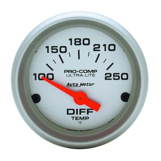 Auto Meter 4349 Ultra-Lite Air-Core Differential Temperature Gauge