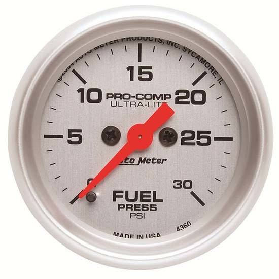 Auto Meter 4360 Ultra-Lite Digital Stepper Motor Fuel Pressure Gauge