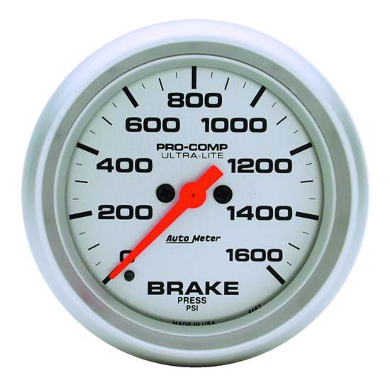 Auto Meter 4467 Ultra-Lite Digital Stepper Motor Brake Pressure Gauge