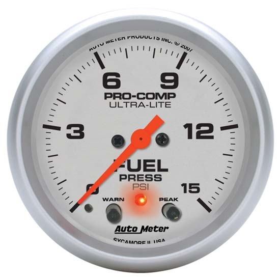 Auto Meter 4470 Ultra-Lite Digital Stepper Motor Fuel Pressure Gauge
