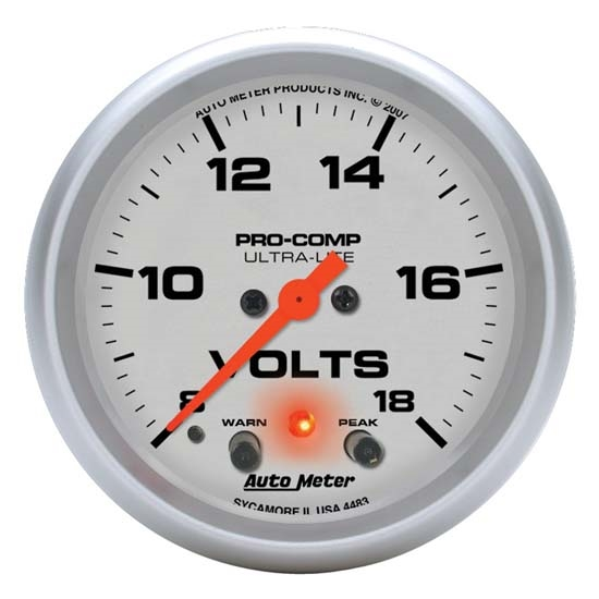 Auto Meter 4483 Ultra-Lite Digital Stepper Motor Voltmeter Gauge