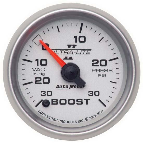 Auto Meter 4959 Ultra-Lite II Digital Stepper Motor Boost/Vacuum Gauge