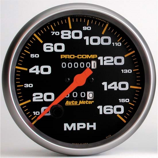 Auto Meter 5154 Pro-Comp Mechanical Speedometer, 160 MPH, 5 Inch