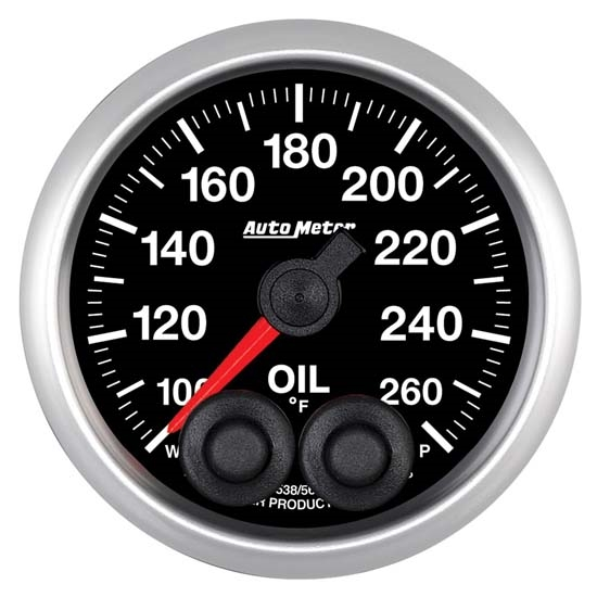 Auto Meter 5638 Elite Digital Stepper Motor Oil Temperature Gauge