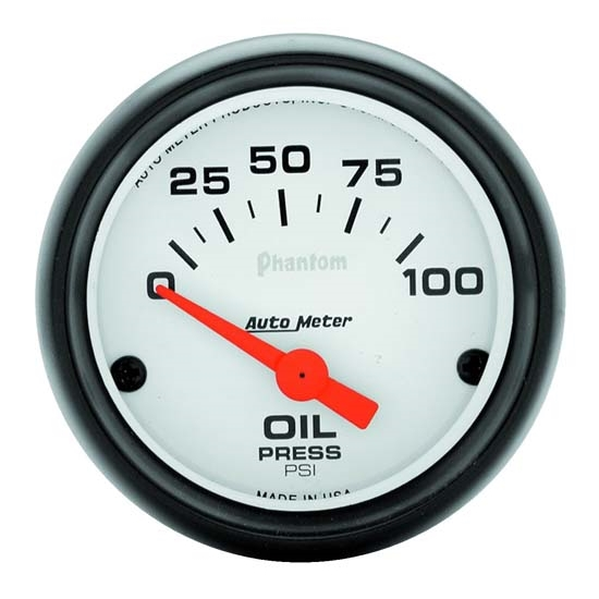 Auto Meter 5727 Phantom Air-Core Oil Pressure Gauge, 2-1/16 Inch