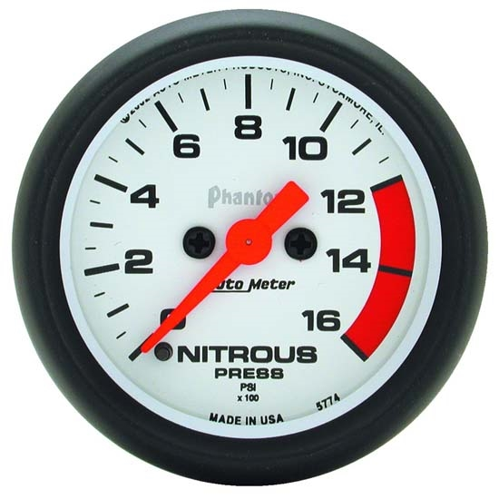 Auto Meter 5774 Phantom Digital Stepper Motor Nitrous Pressure Gauge