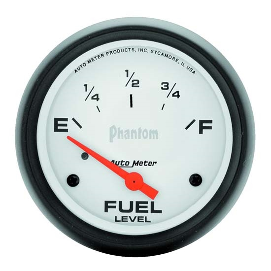 Auto Meter 5816 Phantom Air-Core Electric Fuel Level Gauge, 2-1/16 In.
