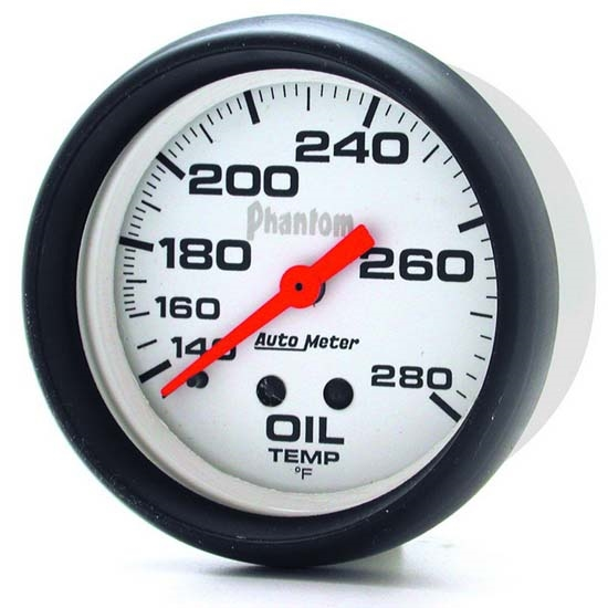 Auto Meter 5841 Phantom Mechanical Oil Temperature Gauge, 2-5/8 Inch