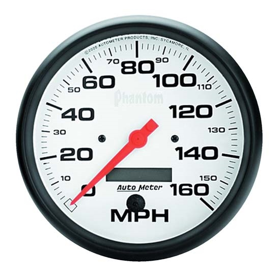 Auto Meter 5889 Phantom Air-Core Speedometer, 160 MPH, 5 Inch