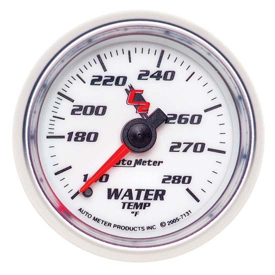 Auto Meter 7131 C2 Mechanical Water Temperature Gauge, 2-1/16 Inch