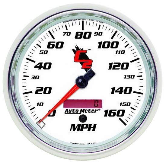 Auto Meter 7289 C2 Air-Core Electric Speedometer Gauge, 5 Inch