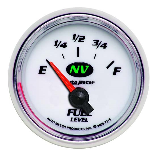 Auto Meter 7316 NV Air-Core Fuel Level Gauge, 2-1/16 Inch