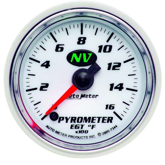 Auto Meter 7344 NV Digital Stepper Motor Pyrometer Gauge, 2-1/16 Inch