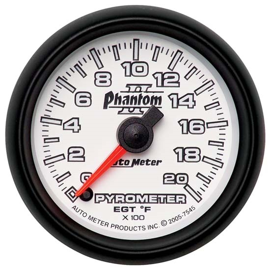 Auto Meter 7545 Phantom II Digital Stepper Motor Pyrometer Gauge