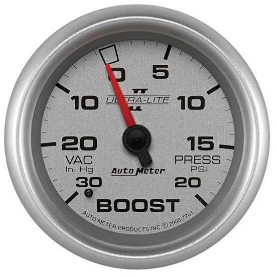 Auto Meter 7701 Ultra-Lite II Mechanical Boost/Vacuum Gauge