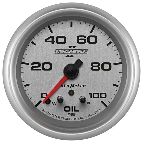 Autometer 4368 Ultra Lite Electric Water Pressure Gauge: Auto Meter 7753 Ultra-Lite II Digital Stepper Motor Oil