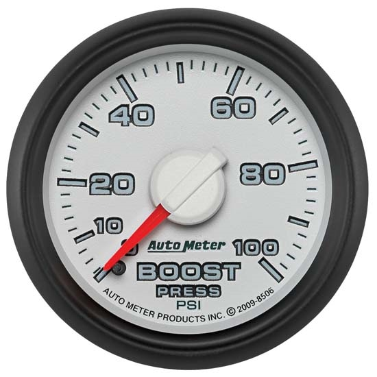 Auto Meter 8506 Gen 3 Dodge Factory Match Mechanical Boost Gauge