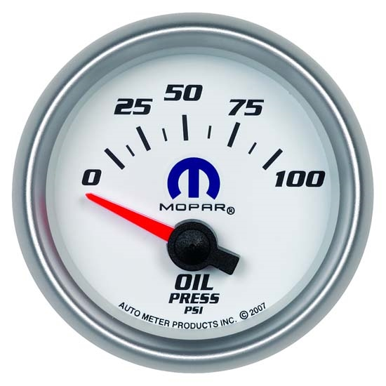 Auto Meter 880029 Mopar Air-Core Oil Pressure Gauge, 2-1/16 Inch