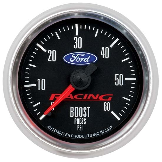 Auto Meter 880106 Ford Racing Mechanical Boost Gauge, 2-1/16 Inch