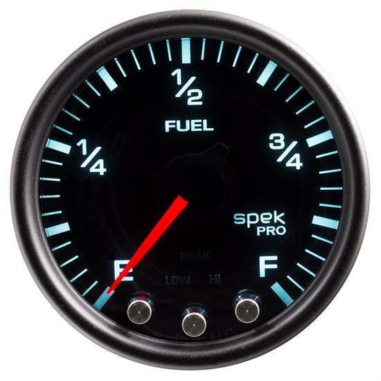 Auto Meter P31252 Spek-Pro Fuel Level Gauge, 2-1/16, 0-300 Ohm, Domed